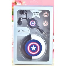Captain America anime headphone