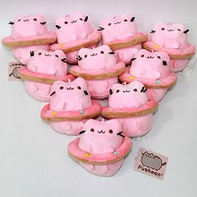 4inches Pusheen the cat anime plush dolls set(10pcs a set)