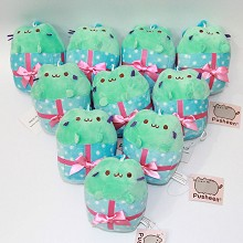 4.8inches Pusheen the cat anime plush dolls set(10pcs a set)
