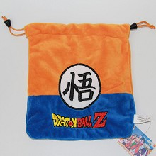 Dragon Ball anime plush drawstring bag