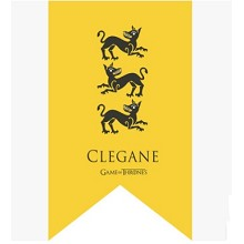 Game of Thrones CLEGANE cos flag