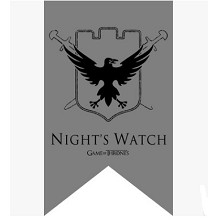Game of Thrones NIGHT'S WATCH cos flag