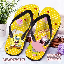 Spongebob anime shoes slippers a pair