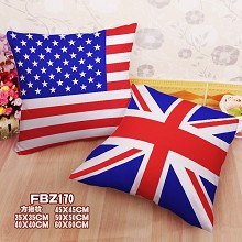 American national flag two-sided pillow