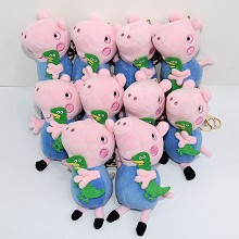 4inches Peppa Pig plush dolls set(10pcs a set)
