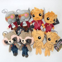 4inches Guardians of the Galaxy plush dolls set(8pcs a set)