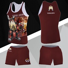 Overwatch TORBJORN vest+short pants a set