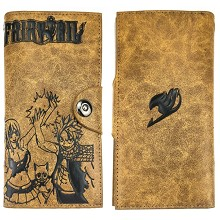 Fairy Tail anime long wallet