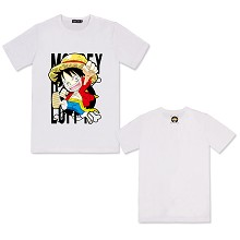 One Piece Luffy anime cotton t-shirt