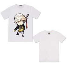 One Piece Law anime cotton t-shirt