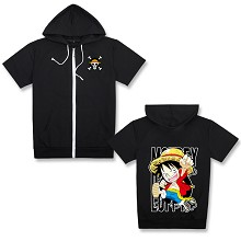 One Piece Luffy anime short sleeve hoodie