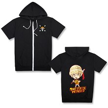 One Piece Law anime short sleeve hoodie