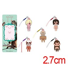 Attack on Titan anime phone straps a set