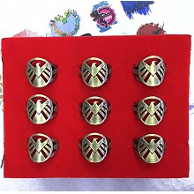 Agents of S.H.I.E.L.D. rings set(9pcs a set)