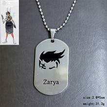 Overwatch zarya necklace