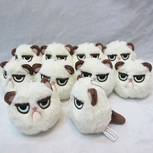 3inches Grumpy Cat plush dolls set(10pcs a set)
