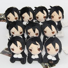 4inches Kuroshitsuji Sebastian·Michaelis plush dolls set(10pcs a set)