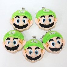 3inches Super Mario plush key chain bags set(5pcs ...