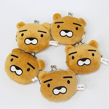 3inches kakao friends plush key chain bags set(5pc...
