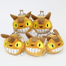 3inches TOTORO bus plush key chain bags set(5pcs a...