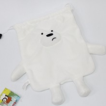 We Bare Bears plush drawing bag 21X19CM