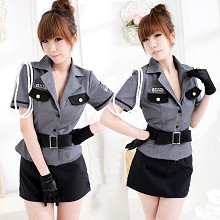 policewoman cosplay dress cloth a set