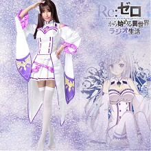 Re:Life in a different world from zero cosplay dress cloth a set