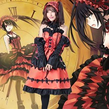 Date A Live Kurumi cosplay dress cloth a set