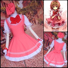 Card Captor Sakura cosplay dress cloth a set