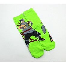 Naruto Killer B cotton socks a pair