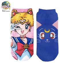 Sailor Moon anime cotton short socks a pair
