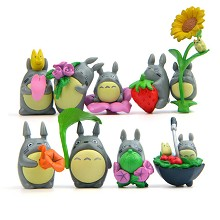 TOTORO anime figures set(9pcs a set)