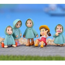 TOTORO Mei anime figures set(5pcs a set)