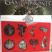 Game of Thrones key chains a set