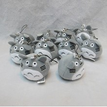 2inches TOTORO anime plush dolls set(10pcs a set)
