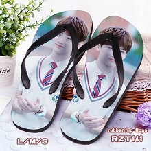 Star Baijingting rubber flip flops slippers a pair