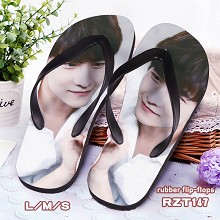 Star Yang Yang rubber flip flops slippers a pair