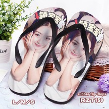 Star Zanilia rubber flip flops slippers a pair