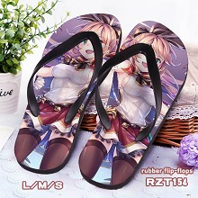 Granblue Fantasy anime rubber flip flops slippers a pair