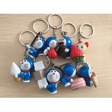 Doraemon anime figure doll key chains set(8pcs a s...