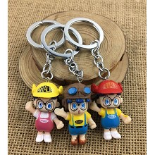 Dr.Slump anime figure doll key chains set(3pcs a s...