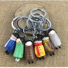 The other anime figure doll key chains set(6pcs a ...