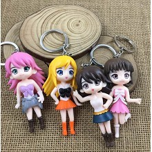 The other anime figure doll key chains set(4pcs a set)