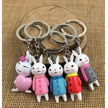 The other anime figure doll key chains set(5pcs a set)