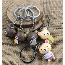 Rilakkuma figure doll key chains set(5pcs a set)