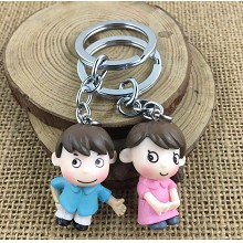The other anime figure doll key chains set(2pcs a ...