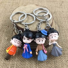 The other anime figure doll key chains set(4pcs a ...