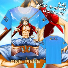 One Piece anime full print t-shirt