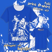 Attack on Titan anime full print t-shirt