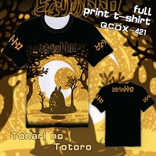 Totoro anime full print t-shirt